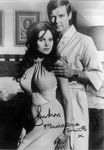 Roger Moore and Madeline Smith Genuine Autograph